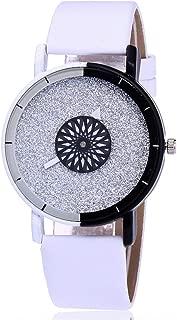 V88Dustproof Quartz Wrist Watch Precise Girls Boys Man Woman Birthday Gifts Fashion Luxury Clock Watches - White
