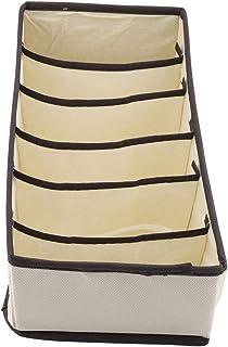 RBSD Durable behåsorganisatör klädlåda organisatör, behåsorganisatör, strumpor slipsar för bh(beige 6 rutor)