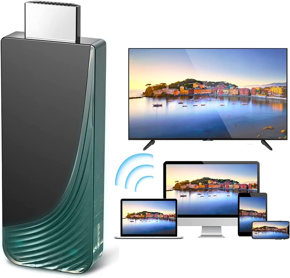 Wireless HDMI Display Dongle Adapter, iBosi Cheng Full HD 1080P WiFi Screen Mirroring Adapter Cast iPhone/iPad/iOS/Android to HDTV/Projector/Monitor,Supports Mac & Windows Devices