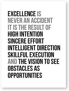 La excelencia nunca es un accidente Cita Arte de la pared Pintura de la lona Citas de motivación del trabajo Cartel e impresión Imagen de la pared Decoración de la oficina 50x70cmx1 sin marco