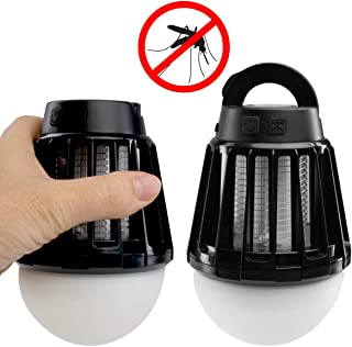 EZ Zap (2 Pack Mosquito Zapper 5W LED Lantern Rechargeable 3 Modes for Camping Travel Bug Killer