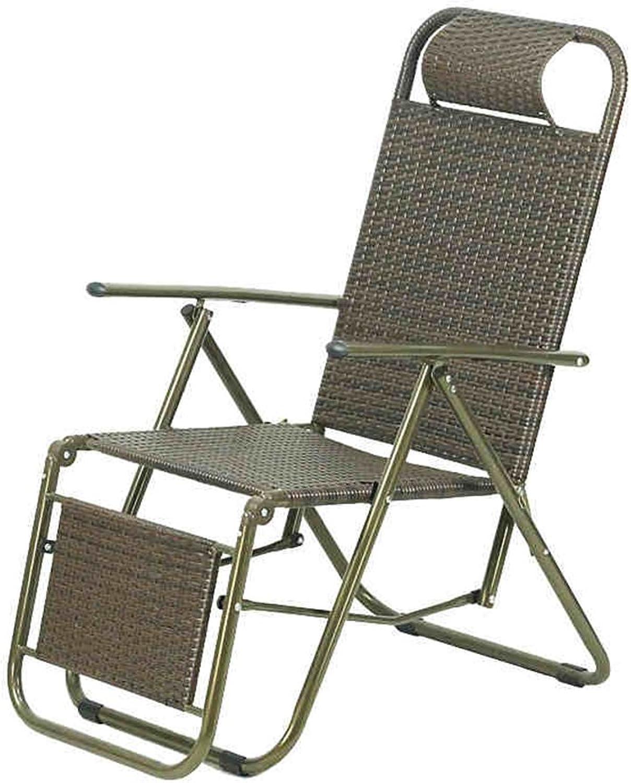 MAHZONG Recliners Rattan Lounge Chair Siesta Chair Deck Chair