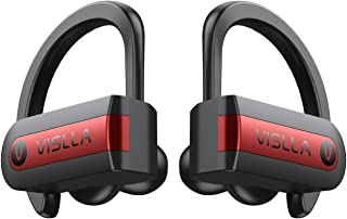 Wireless Earbuds, Vislla 5.0 Bluetooth Sport Headphones Stereo Bass Sound TWS Ear Buds Over Ear Sweatproof Headset 8 Hours Playtime Wireless Earphones with Mic & Charging Case for Running/Working Out
