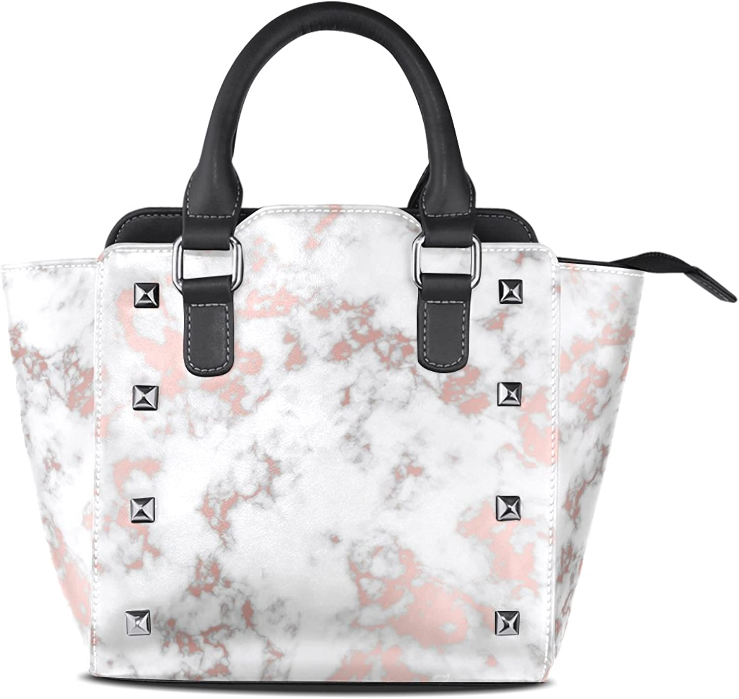 My Little Nest Women's Top Handle Satchel Handbag Amazing Marble Artwork Pattern Ladies PU Leather Shoulder Bag Crossbody Bag