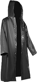 Outdoor Raincoat Black EVA Fabric Raincoat Long Rain Poncho with Hat for Men and Women Raincoats AXCDE