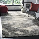 Safavieh Retro Collection RET2891-8012 Modern Abstract Grey and Ivory Area Rug (8' x 10')