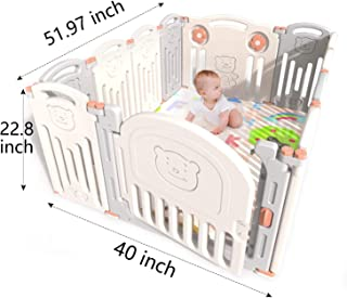 Baby Playpen Infants Safety Fence Foldable Portable Play Yard, HDPE, BPA Free, Home Indoor Outdoor Activity Centre Play Pen (12 Panel)