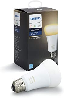 Philips Hue White Ambiance A19 10W Dimmable LED Smart Bulb (Hue Hub Required, Works with Alexa, HomeKit & Google Assistant)