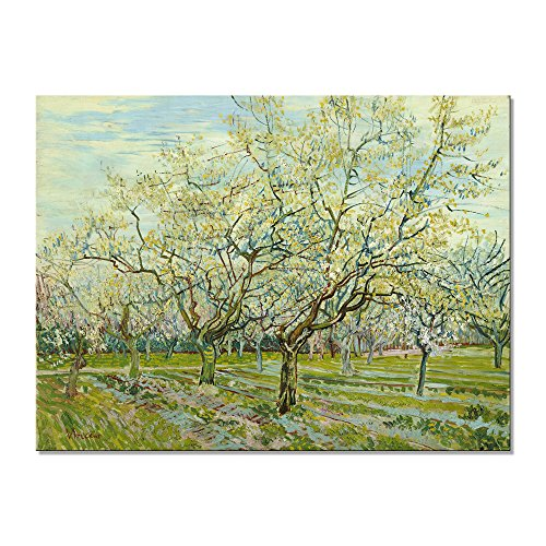 Wieco Art The White Orchard by Van Gogh Famous Oil Paintings Reproduction Canvas Prints