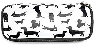 TIZORAX - Astuccio portapenne a forma di bassotto, per cancelleria e cancelleria, per scuola e ufficio