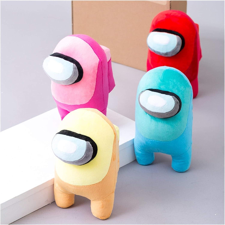 Schattige knuffel 20cm Among Us Gevulde Knuffels Soft Dolls Game Alien Cute Animal speelgoed for kinderen Christmas Gift De kwaliteit zacht pluche materiaal (Color : 4pcs B) 02