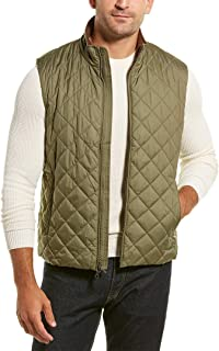 Brooks Brothers Mens Diamond-Quilted Vest, M, Green
