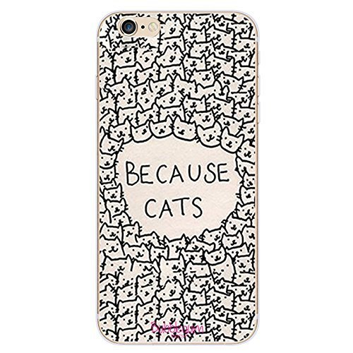 Bubblegum para modelos iPhone colección con diseño de animales–funda gel TPU suave y protectora, Because Cats, iPhone 5 5s 5se