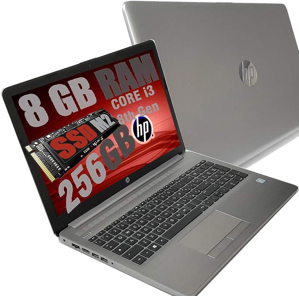 Notebook hp i3 250 g7 silver portatile display hd 15.6