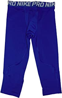 NIKE Pro Boys Training Tights 3/4 Length Small Polyester Blue