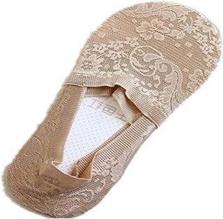 レディース フットカバー レース ステルス 深口 滑り止め 深履きタイプ 夏用抗菌防臭 吸汗速乾 爽やかな靴下 綿 ソックス 5色5足組
