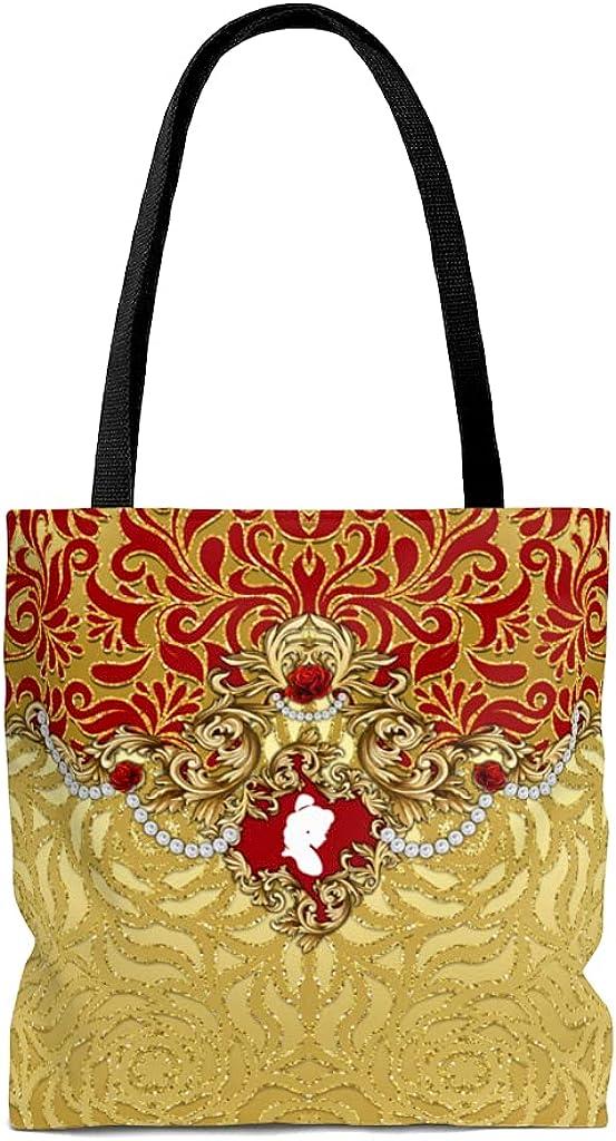 KawaiiDressShop Beauty and the Beast Princess Allover Print Tote Bag