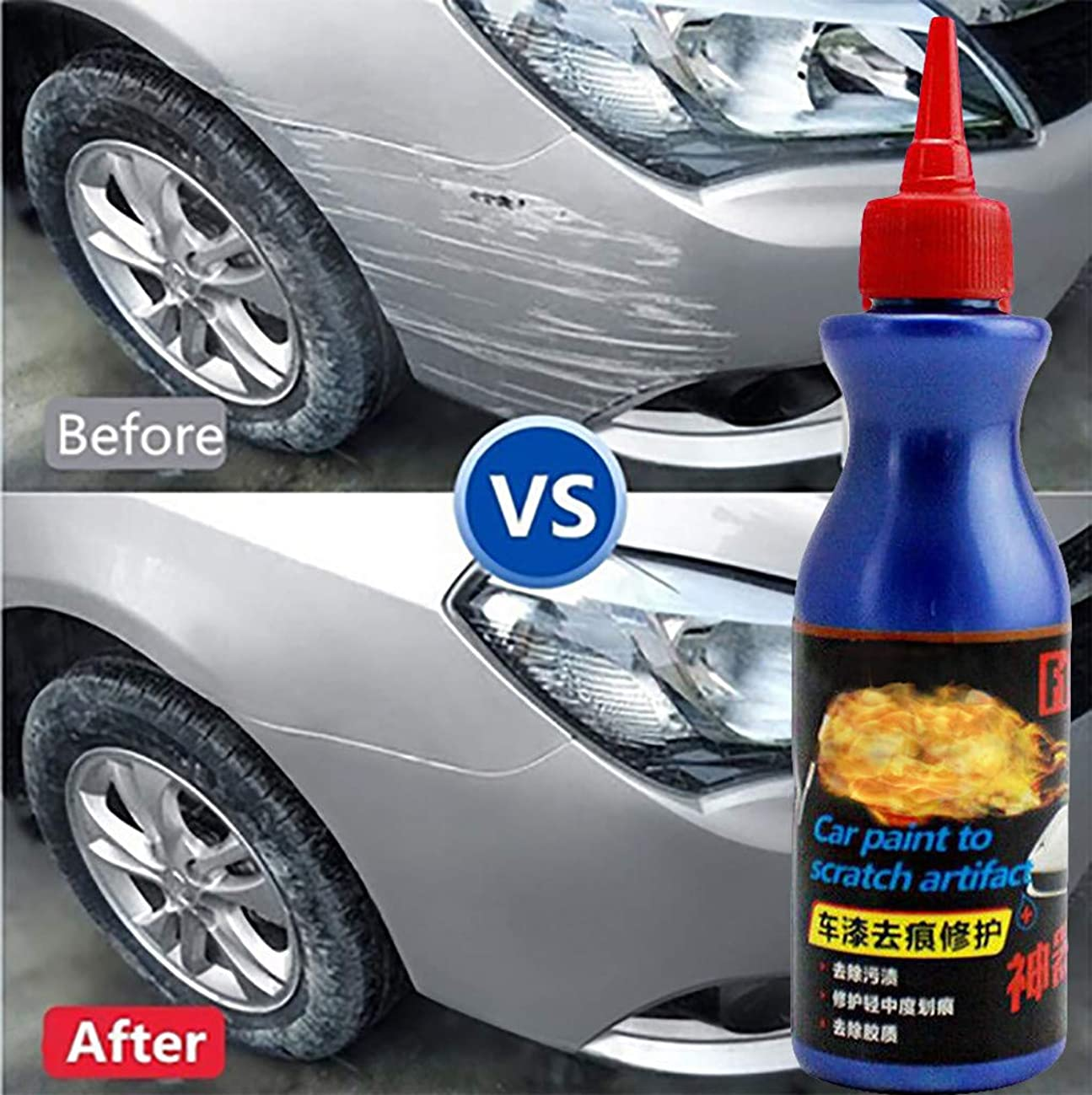 One Glide Scratch Remover, Polishing Paint Restorer Easily Repair Paint Scratches Repair Remover Paint Care Car Scratch Repair Fluid Polishing Wax (Blue, One Size)