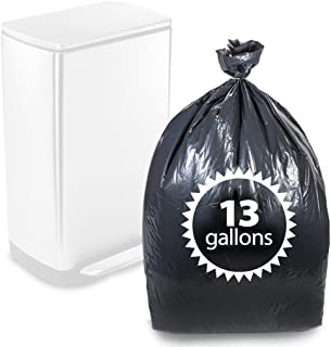 """Primode Tall Kitchen Trash Bags Black 13 Gallon 200 Count Heavy Duty Garbage Bag 24"""" X 31"""" Made in The USA"""