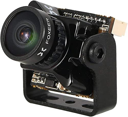 Ballylelly-Foxeer Protator V2 FPV Mikrokamera CMOS NTSC Cam mit 1.8mm OSD 1000TVL Super WDR für RC Racing Drohne Quadcopter DIY (Schwarz