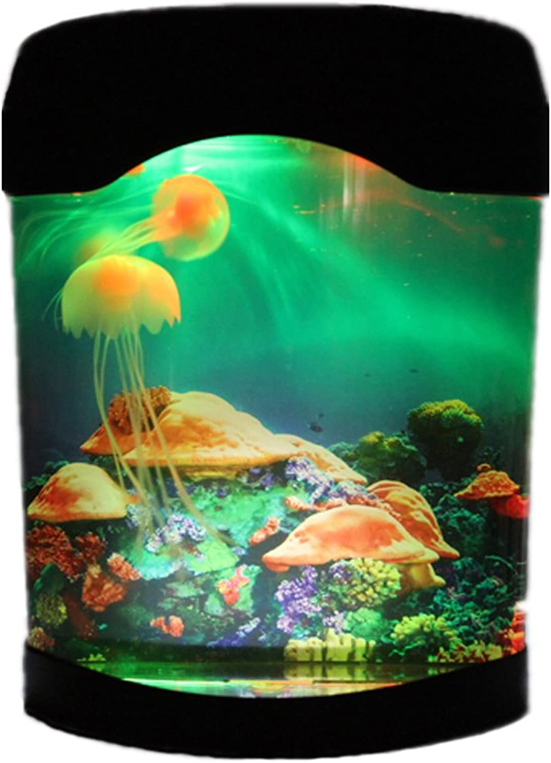 NAMEO Aquarium Kit with Jellyfish & 5 colorful LED Lights for Valentines Gift Birthday Present
