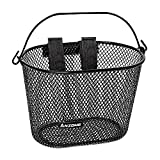 ANZOME Kids Bike Basket, Bicycle Basket for Boy and Girl, Waterproof Metal Wire Children's Bicycle Basket, Suitable for Most Children's Bicycles