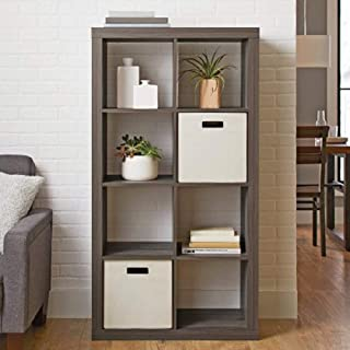 Better Homes and Gardens.. Bookshelf Square Storage Cabinet 4-Cube Organizer (Weathered) (White, 4-Cube) (Rustic Gray, 8-Cube)