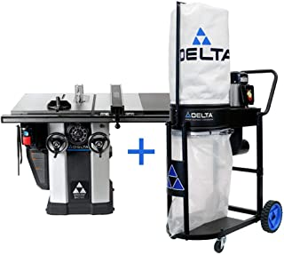 Delta 3 HP Motor 10 in. Unisaw with 36 in. Biesemeyer Fence System and FREE 1.0 HP Dust Collection System