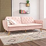 Novogratz Tallulah Memory Foam Futon, Pink