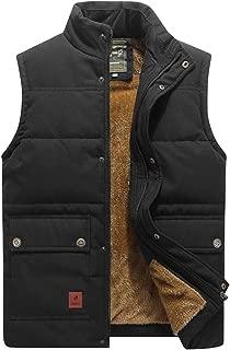 Men's Winter Warm Outdoor Padded Puffer Vest Thick Fleece...