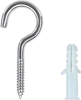 Screw Hooks Stainless Steel 5 x 60mm Hook Bolts VA Wall Hook Holder