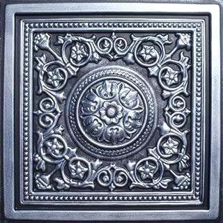 Majesty Antique Silver Black (24x24 PVC) Ceiling Tile