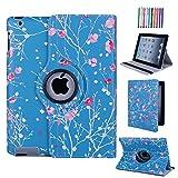 CULIKER - Exclusive Design Case for iPad 2/iPad 3/iPad 4, 360 Rotating Colorful