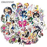 Cartoon Sailor Moon Stickers For Vsco Girl Motorcycle Skateboard Laptop Refrigerator Suitcase Diary Gift Anime Sticker50pcs/set
