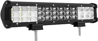12 Inche LED Light Bar DWVO 7D Triple Row Led Bar 180W Spot&Flood Beam Work Driving Fog Lights for Jeep Trucks SUV Marine Boats Camping