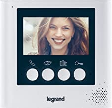 Legrand video-interieur met monitor voor uitbreiding van de video naar het 2-familiehuis, 4,3 inch (Weiß), wit