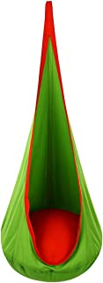 OUTREE Kids Pod Hanging Swing Seat Hammock ,100%cotton Child Swing hammock Chair for Indoor and Outdoor use(Green)