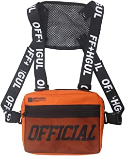 EFINNY Chest Rig Waist Bag Men Women Hip-Hop Style Pack Functional Chest Bag Cross Shoulder Bag Adjustable Tactical Vest Streetwear Bags Waist Pack Radio Harness Chest Rig Bag