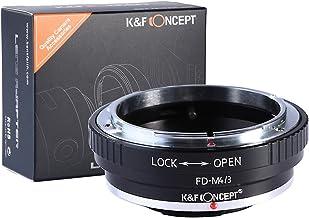 [正規代理店]K&F キャノン FDレンズ-マイクロフォーサーズ m4/3 マウントアダプター レンズクロス付 fd-m43 (KFM43)