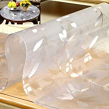 MNBV Dekzeil van waterdichte, transparante stof, 2 mm, vuurvast en oliebestendig, wegwerptafelblad van zeildoek, waterdich...