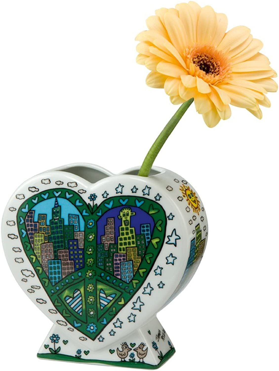 Goebel A Peace of My World Vase, Porzellan, bunt 13 x 6 x 12.5 cm B00I3IGWLW