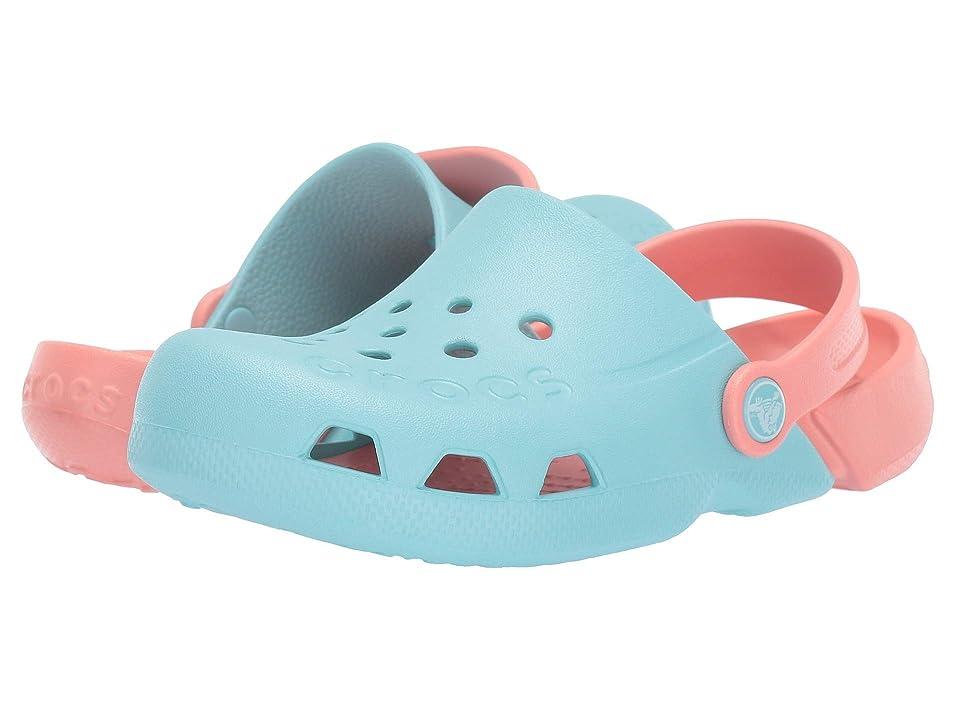 Crocs Kids Electro (Toddler/Little Kid) (Ice Blue/Melon) Kids Shoes