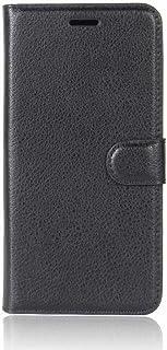 حافظة هاتف هواوي ميت 10 برو للهاتف المحمول ليتشي الحبوب قوس المحفظة نوع حامي أسود