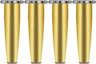 نوعية جيدة 4 قطع أرجل قابلة للتعديل خزائن أرجل طاولة أرجل الأثاث، سبائك الألومنيوم ارتفاع قابل للتعديل 0-14 مم تأتي مع برا...