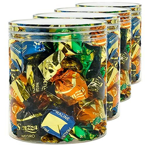 LG Luxury & Grace Pack 4 Botes de Polietileno Alimentario, 0,70 L (11,5x10cm). Tarros con Tapa Transparente de Polietileno. Reciclables. 100% Libres de BPA.