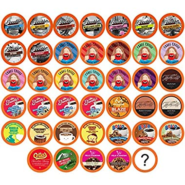 Two Rivers Flavored Coffee Single-Cup Sampler Pack for Keurig K-Cup Brewers, 40 Count