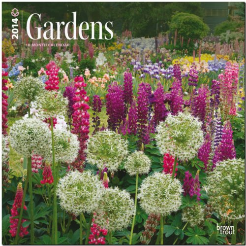 Gardens 2014 - Gärten: Original BrownTrout-Kalender [Mehrsprachig] [Kalender]