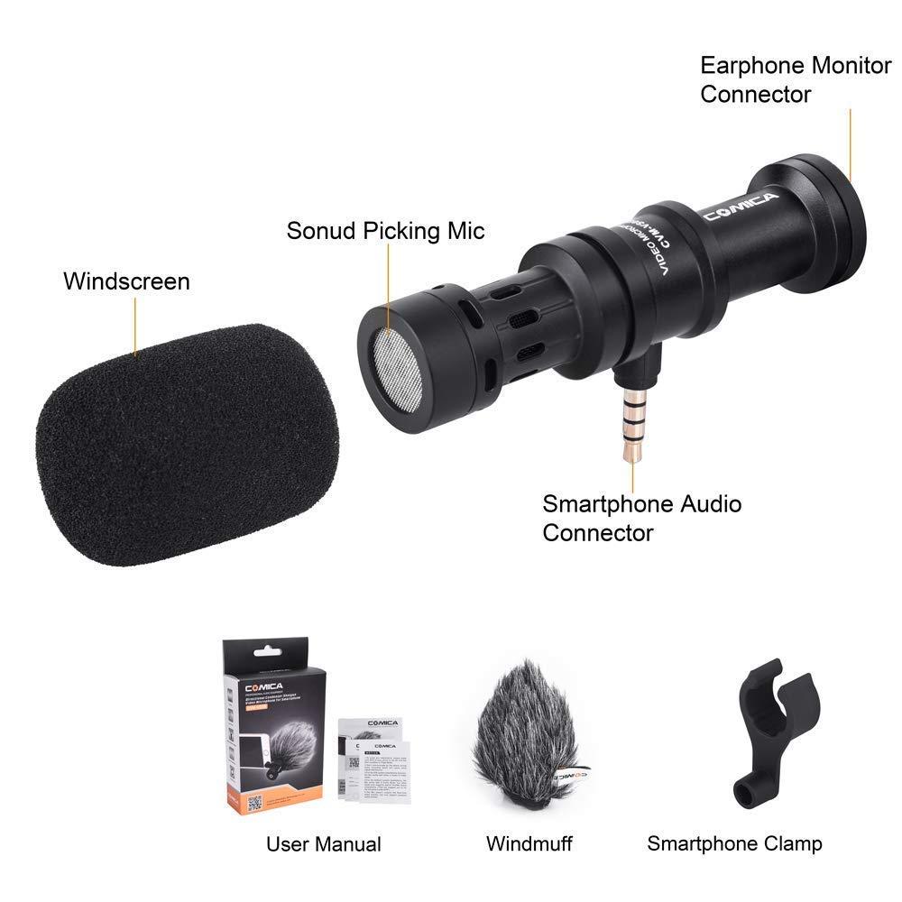 Comica CVM-VS08 Condensador cardioide profesional Micrófono de ...