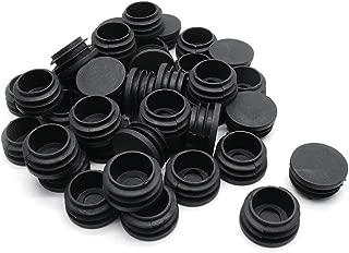 BTMB 50 Pcs Round Plastic Plug Black Black Furniture Chair Leg Caps Fencing Post Pipe Insert End Cap (Dia 35mm/1.37'')