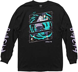 Ripple Junction Naruto Shippuden Adult Unisex Hinata Power Up Light Weight 100% Cotton Long Sleeve Crew T-Shirt